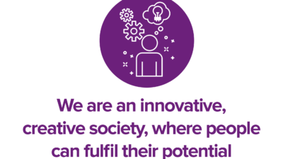 We are an innovative, creative society, where people can fulfil their potential